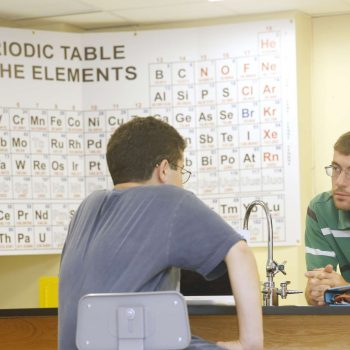 Students in chemistry class